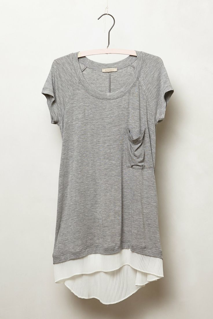 Lace Divide Tee - anthropologie.com - $58.00