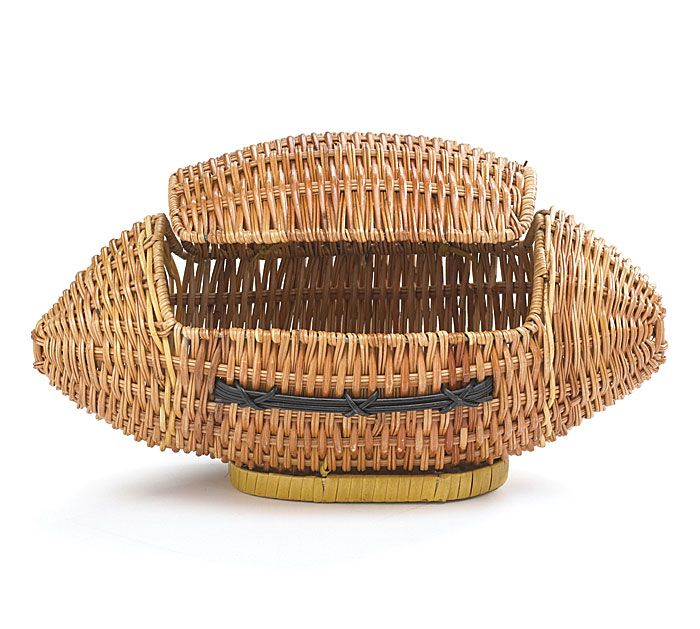 Fill this football shaped basket with goodies for your favorite football star! #burtonandburton