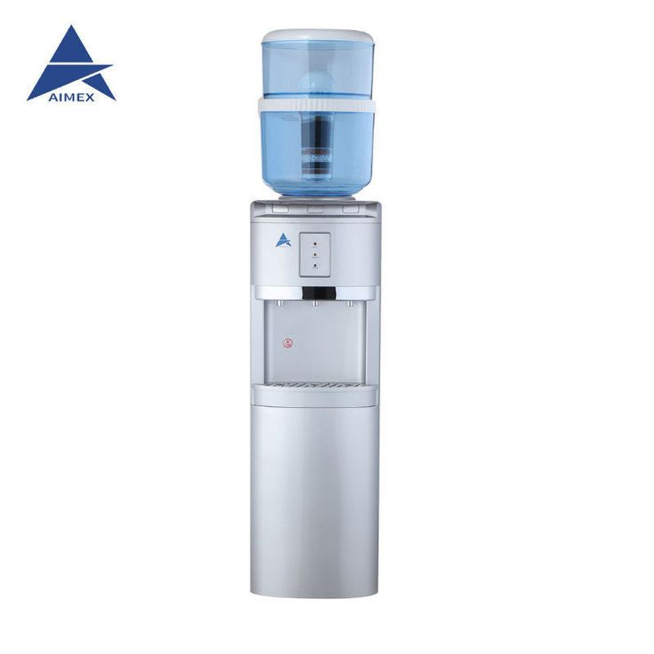 NEW Water Cooler Heater Ambient Awesome Water Filter H20 Silver Floor Standing