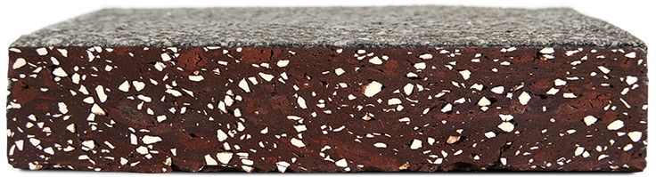 This is the Truffle Sliced, one of StoneCycling's WasteBasedBricks. It's a brick made from Waste that can be used for interior design or the outside facade.