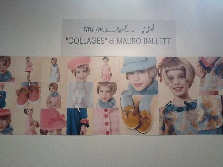 """If you're at Pitti Bimbo, we kindly invite you to attend the photographic exhibition """"Collages"""" by Mauro Balletti, photographer and close friend of Imelde Bronzieri. The exhibition is taking place right within the MiMiSol corner, at Costruzioni Lorenesi.  #mimisol #fashion #clothing #kidswear #kids #childrenswear #children #pittibimbo #pitti #pittibimbo2013 #mauroballetti #photographic #exhibition #collage"""