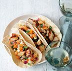 lobster tacos with mango salsa
