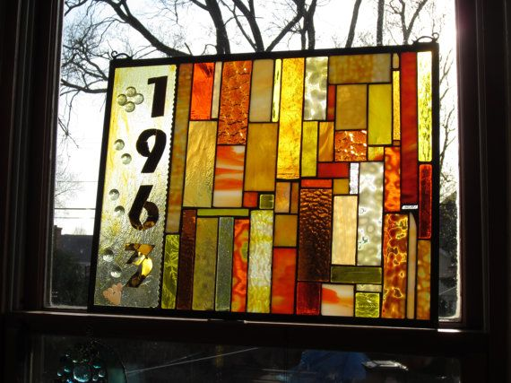 50th wedding anniversary stained glass window perfect gift