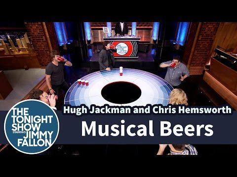 Watch Hugh Jackman, Chris Hemsworth And Jimmy Fallon Play Musical Beers