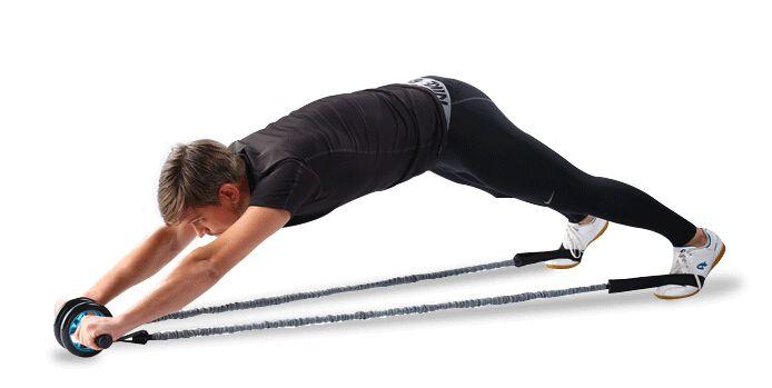 De dos y Tres Ruedas de Rodillo Rueda de Fitness Culturismo Músculo Abdominal con cuerda(China (Mainland))