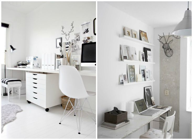 Study room white home office inspiration love the one of for Study room wall cabinets