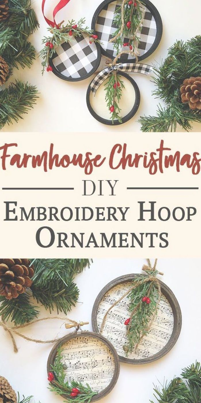 DIY Embroidery Hoop Christmas Ornaments More Like Grace