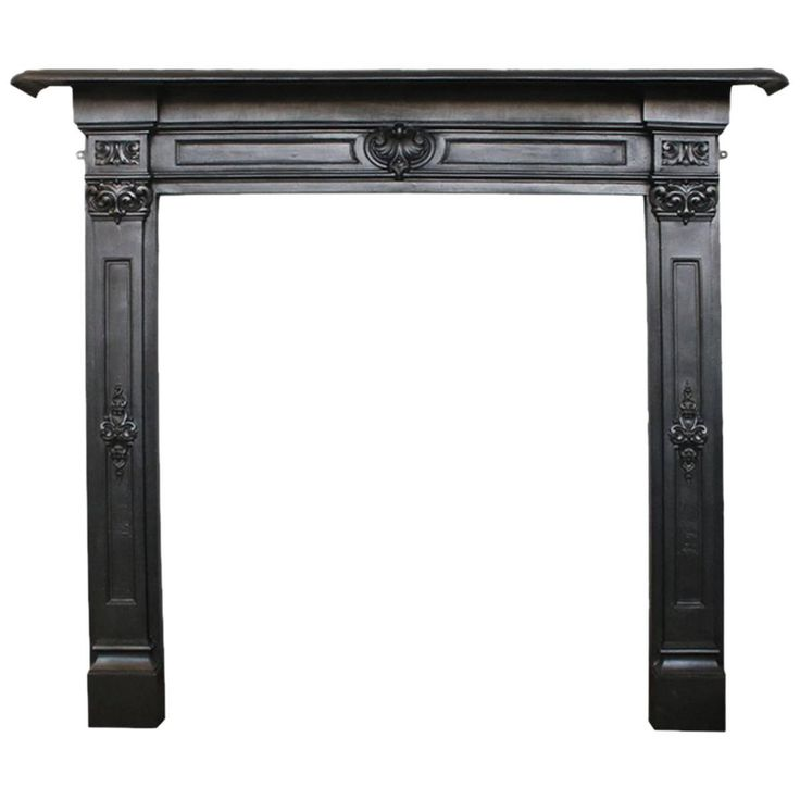 Antique Early Victorian Cast Iron Fireplace Surround | From a unique collection of antique and modern fireplace tools and chimney pots at https://www.1stdibs.com/furniture/building-garden/fireplace-tools-chimney-pots/