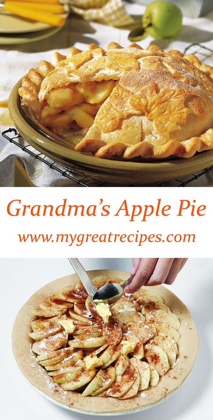A touch of #lemon in the filling emphasizes the tart sweetness of the Granny Smiths. Serve the #pie with frozen yogurt or ice cream. #apple #applepie #thanksgiving