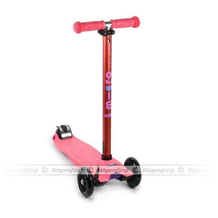 Hulajnoga Maxi Micro T-bar Anodized Coral Pink dla 5 latki