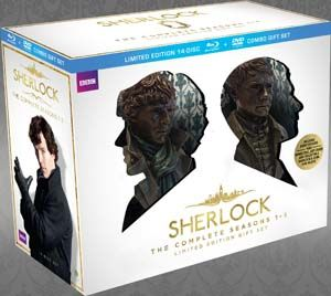"""Sherlock"" Sherlock Limited Edition Gift Set (The Complete Seasons 1-3 Blu-ray/DVD Combo) at BBC Shop"