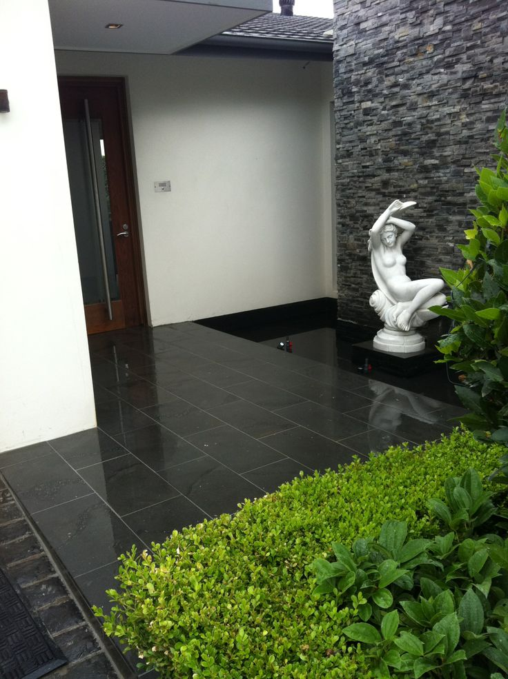 Bluestone pavers. Natural Stone Pavers and Water Feature,