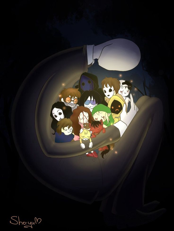 Slender,masky,hoodie,eyeless jack,lost silver,jane,jeff,ben,sally,tails doll,smile dog,clockwork,and ticci toby