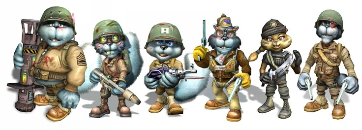 Conker Live and Reloaded Character Wallpaper Line-up Modern