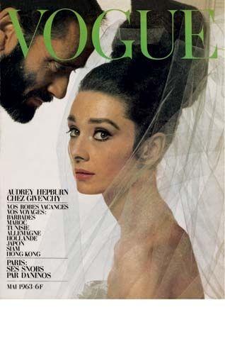 Audrey Hepburn (et mari Mel Ferré) par Bert Stern pour le Vogue français, 1963, porter Givenchy