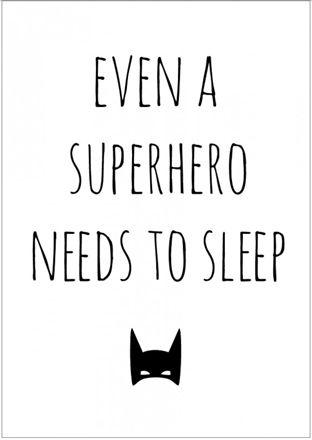 Frank&Poppy Poster Superhero 30x40, Vit