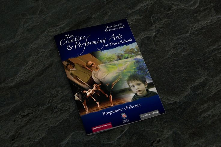 A5, 8pp brochure for Truro School Performing Arts.