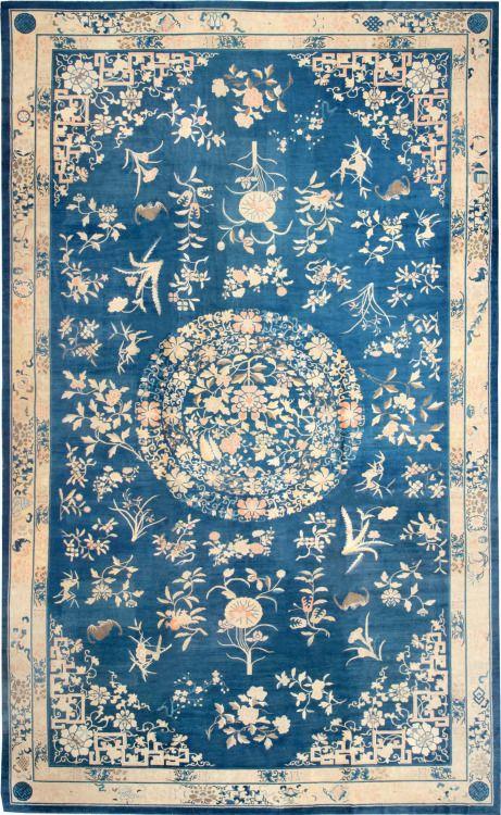 "robert-hadley: "" Antique Chinese rug Source: nazmiyalantiquerugs.com """
