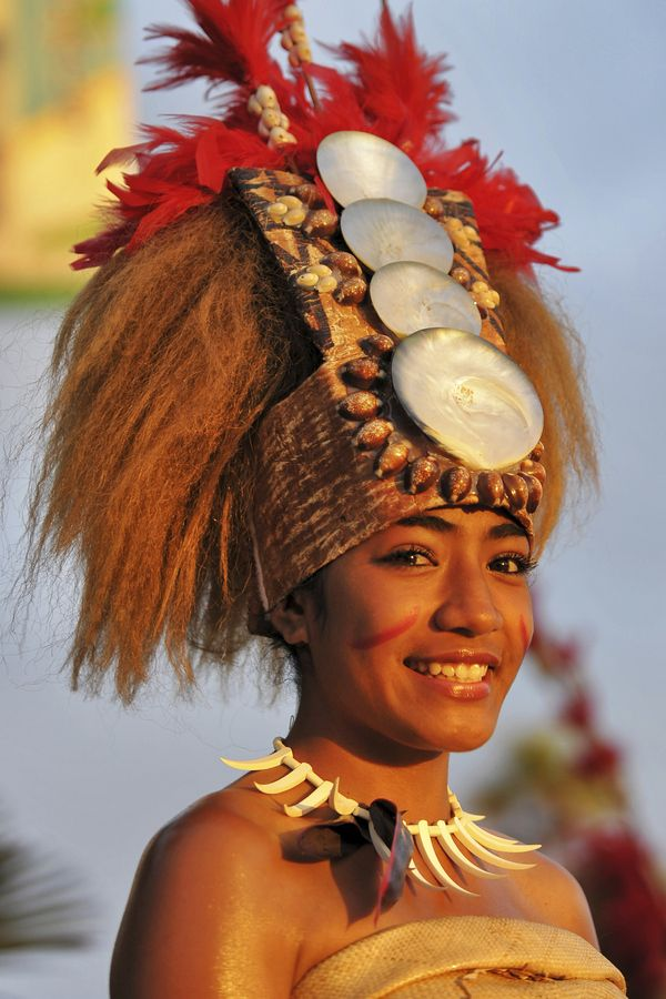 Photograph Samoan Woman at Oceanside Festival by Rich Cruse