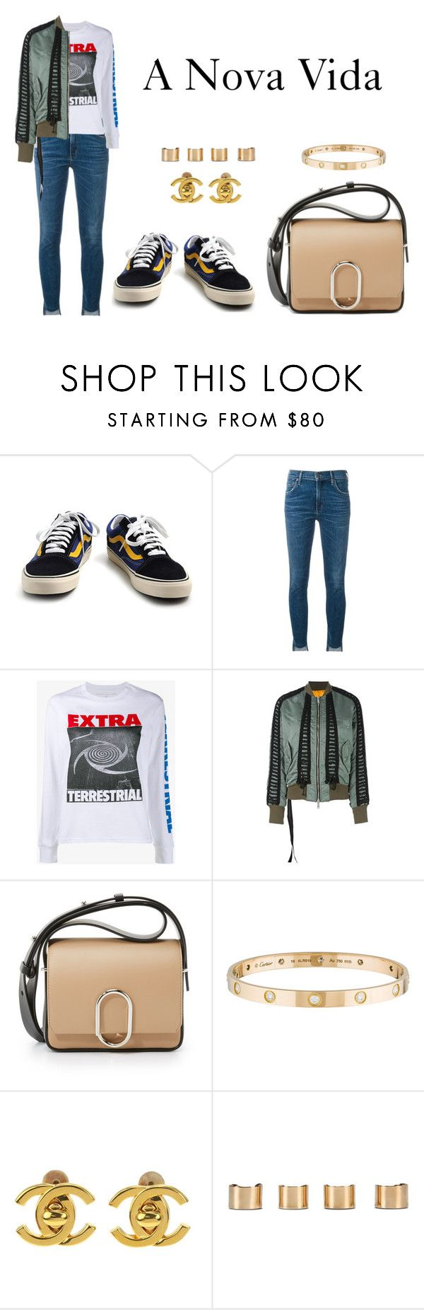 """""""A Nova Vida"""" by anaelle2 ❤ liked on Polyvore featuring Vans, Citizens of Humanity, Ashley Williams, Unravel, 3.1 Phillip Lim, Cartier, Chanel and Maison Margiela"""