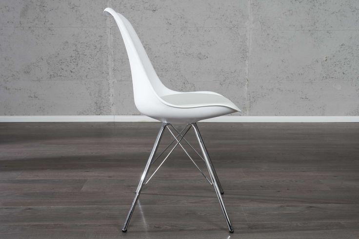 Jedálenské stoličky - moderné : Stolička Sweden Retro biela