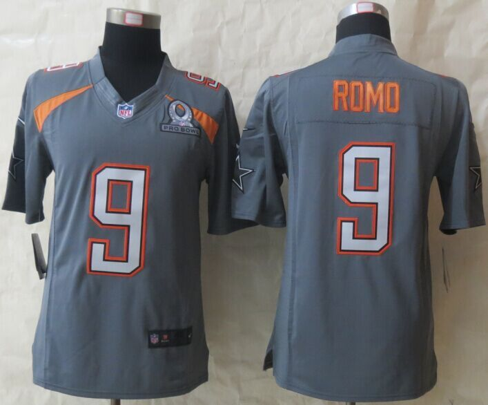... Elite Dallas Cowboys 9 Tony Romo Drift Fashion Grey Jerseys Save 50  2015 New Nike Dallas cowboys 9 Romo Pro Bowl Grey Game Jerseys. ab7737531