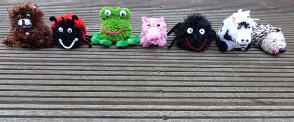 Basteln mit Kindern #Pom Pom Tiere# auf unseren Blog  http://www.zeitmitkindern.com/category/basteln-mit-kindern/