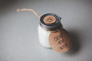 Homemade Body Butter DIY - whipped coconut oil + essential oil.