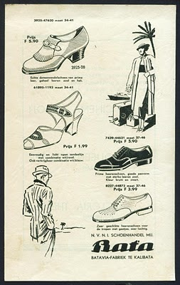 Bata Shoes old advertisement in Indonesia.