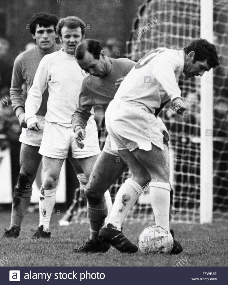 24th January 1970. Johnny Giles and Billy Bremner in action against Sutton United, an FA Cup 4th Round tie.