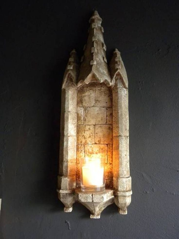 Bathroom , Gothic Bathroom Decor Ideas : Gothic Bathroom Decor Castle Wall Sconce