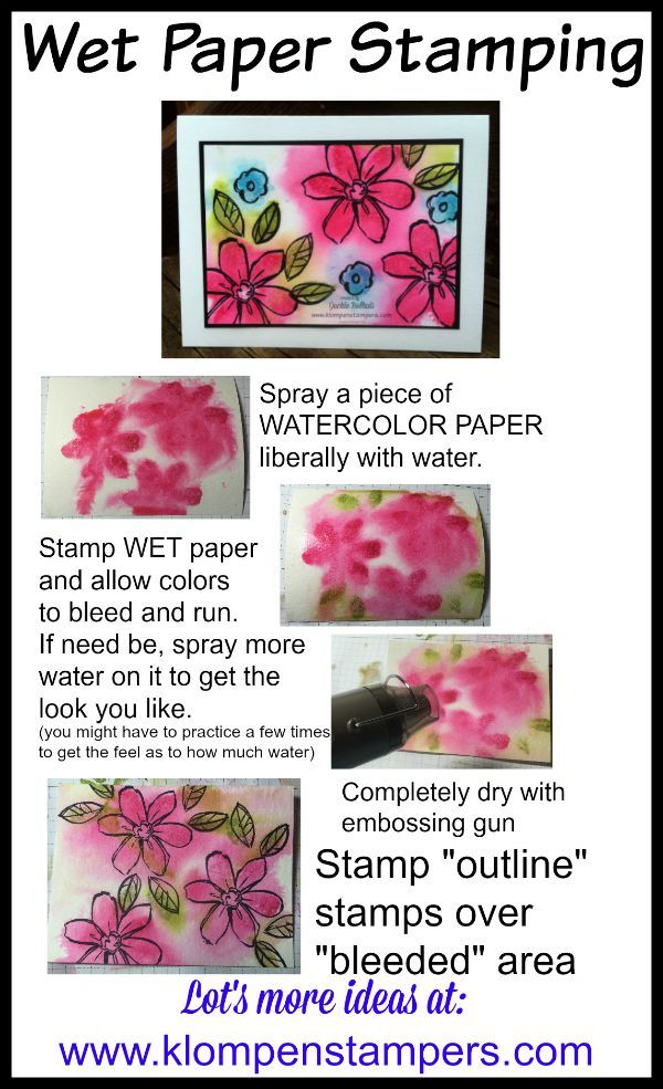 Klompen Stampers (Stampin' Up! Demonstrator Jackie Bolhuis): Wet Paper Stamping (Technique)