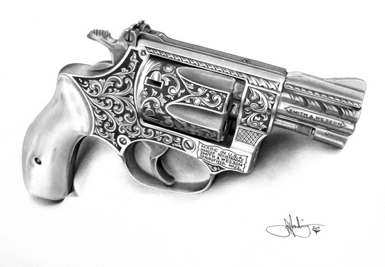 Pencil Drawing gun | Pencil 'ART' | Pinterest | Pencil ...
