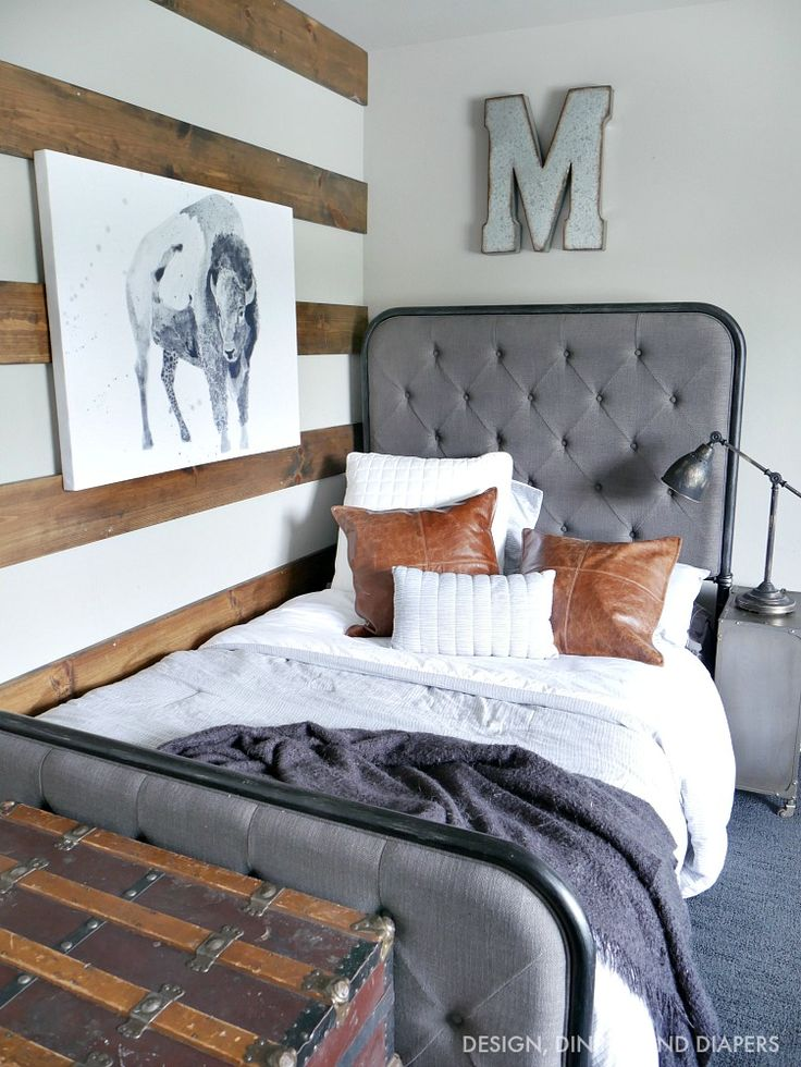 Rustic Modern Boy Room | Little Cowboy | Modern boys rooms ...