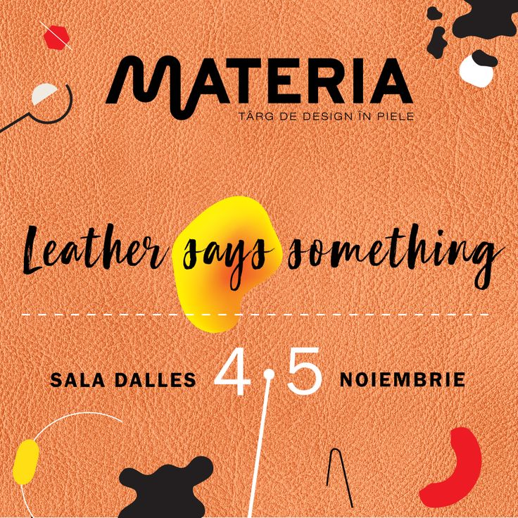 #Attitude, #emotion, #creativity, #fetish, #desire or #freedom: which word would you choose to describe leather? Come and find them all at MATERIA - on November 4th and 5th, Sala Dalles in Bucharest