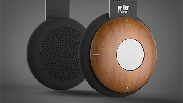 Braun Bounce - Headphones by Rasam Rostami