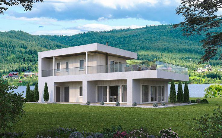 QUBE er funkishuset fra Hus 1 Norge. Bruk av moderne byggeteknikk gir disse boligene mindre og enklere vedlikehold.