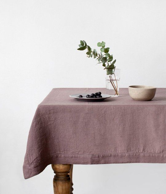 Soft & Beautiful Washed Linen Tablecloths from Lithuania