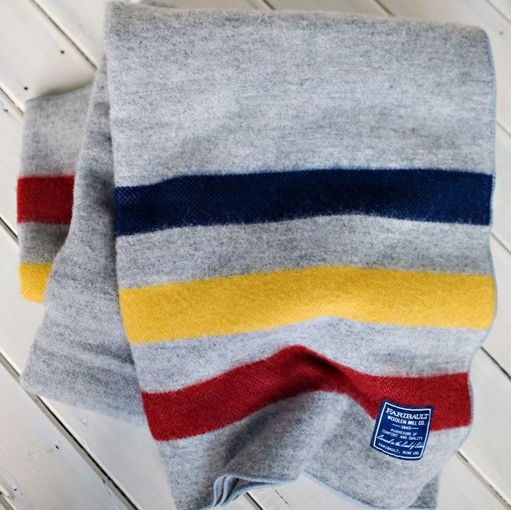 Lodge Stripe Throw - 85% fine wool and 15% cotton and finished with a whipstitch edge, the throw is permanently moth-proofed.