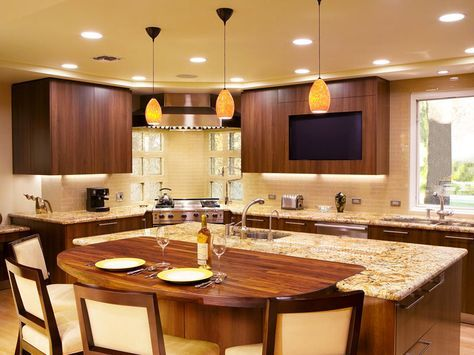 Check Out These Pictures For 20 Kitchen Island Seating Ideas. You Can Use  Bar Stools Part 38