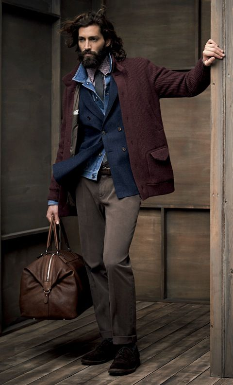 Brunello Cucinelli Online Store - nice use of layers.