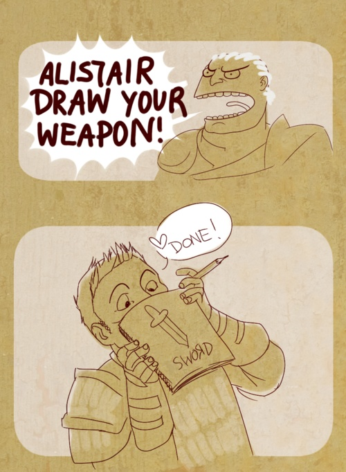 domirine:    based on their banter. heee 8DDDD    Oh Alistair XD