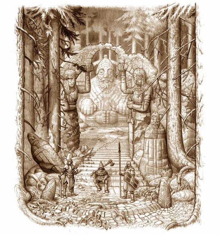 Drakar och Demoner: Trudvang Drakriddartempel / Dragon Knight Temple