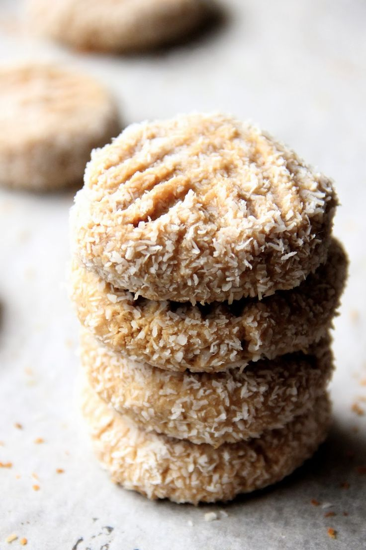 Honey peanut butter and coconut cookies