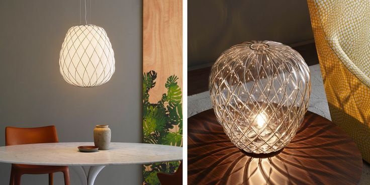 FontanaArte: lampade in vetro soffiato Pinecone