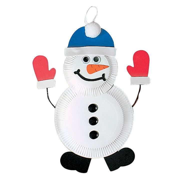 Paper Plate Snowman Craft Kit Simple Christmas