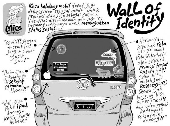 Mice Cartoon: Wall of Identity (Kompas, 14.10.2012)