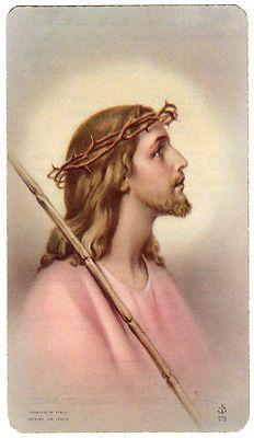 Jesus Crown of Thorns Vintage Holy Card Printed in Italy | eBay