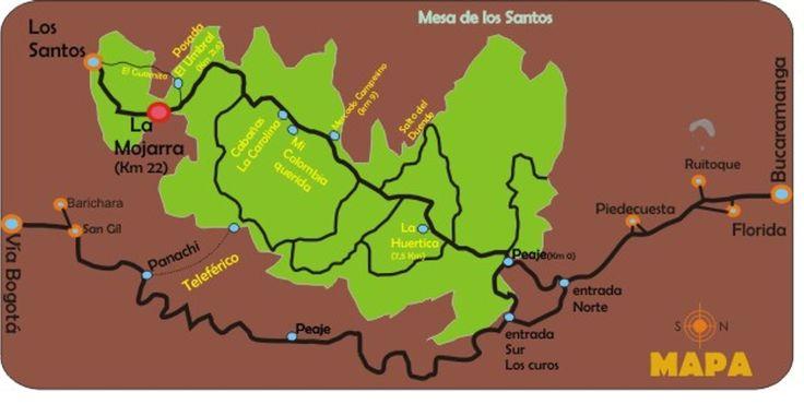 mesa de los santos, bucaramange Colombia   bucaramanga saliendo por el sur a un par de kilómetros después de ...