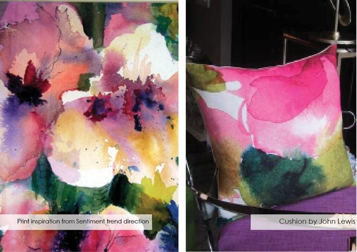 watercoloured flowers